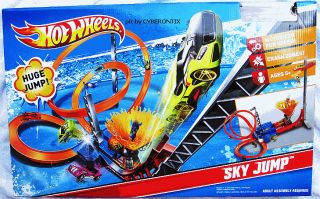 2011 Hot Wheels Sky Jump Track Set with Car New in Box Mattel Playset