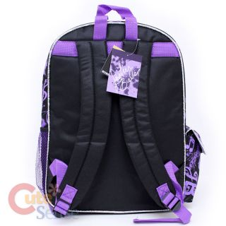 Justin Bieber School Backpack 16 Large Bag Purple Bieber Fever