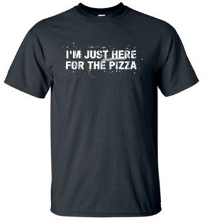 Just Here for The Pizza T Shirt Funny Tee BK M