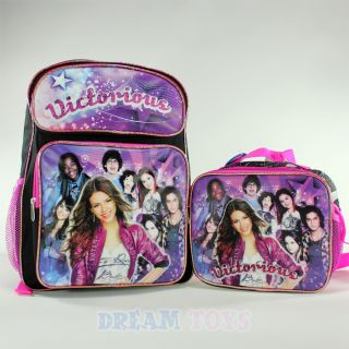 Victorious Victoria Justice 16 Large Backpack and Lunch Bag Set Girls