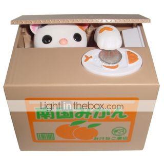 USD $ 23.29   Creative Stealing Money Cat Design Coin Bank Saving Box
