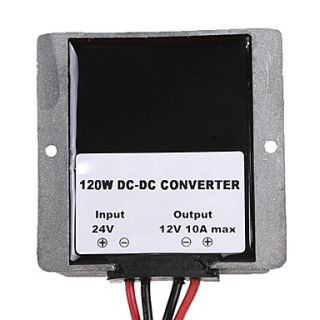 USD $ 29.99   DC Converter 24V Step Down to 12V 10A Voltage Regulator