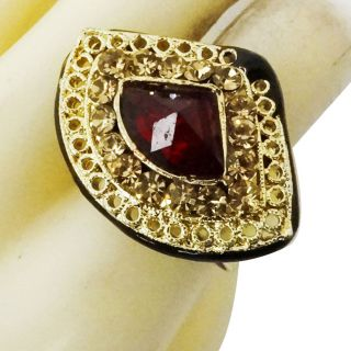 Traditional Kundan Polki Jodha Akbar Adjustable Ring Indian Bridal