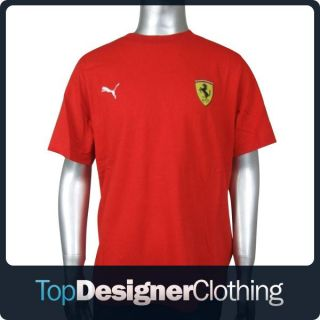 Boys Junior Puma Ferrari Formula 1 Red Tee T Shirt Top