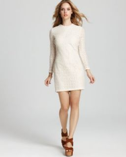 Kain Label New Halle Ivory Long Sleeve Lace Lined A Line Casual Dress