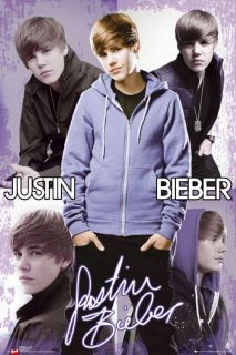 Justin Bieber Poster Hoodie Collage Official Maxi Size