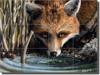 Sparks Fox Animal Wildlife Art Ceramic Tile Mural