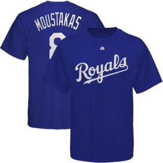 Majestic Mike Moustakas Kansas City Royals Player T Shirt Royal Blue
