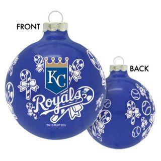 Kansas City Royals MLB KC Baseball Glass Christmas Ornament Holiday