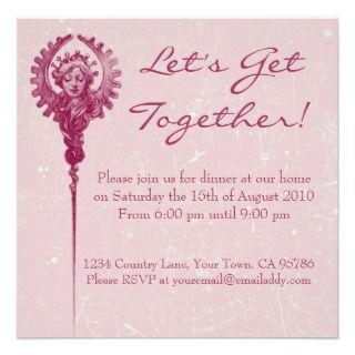 Classic Elegance Dinner Party Invitation