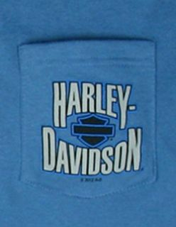 New Maui Harley Davidson Mens XL Blue HD Short Sleeve Blue Pocket T