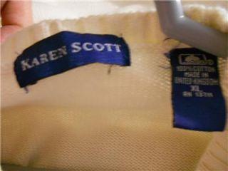 Karen Scott Cream Cardigan Sweater SX XL B 22