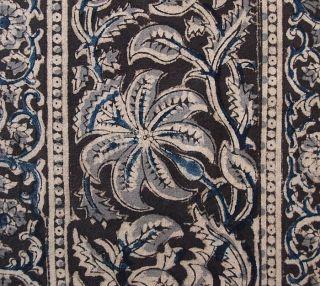 Kalamkari Hand Printed Cotton Fabric Natural Dyes