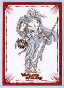 2012 Warlord of Mars Artist Neil Camera 1 1 Original Art Sketch Card
