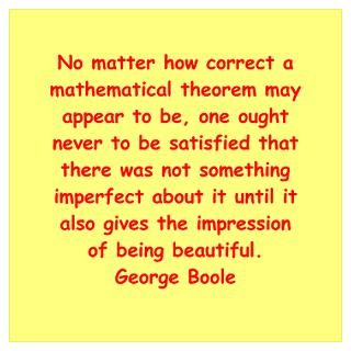 Wall Art  Posters  George Boole quote Wall Art