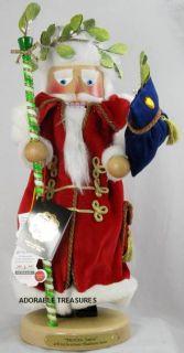2009 Signed Karla Steinbach Mistletoe Santa Nutcracker Free SH