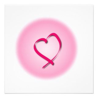 Pink Cancer Heart Invitation