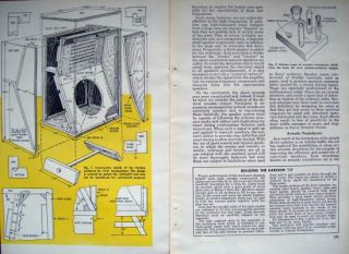 1958 Plans John Karlson 12 Speakers Cabinet Enclosures