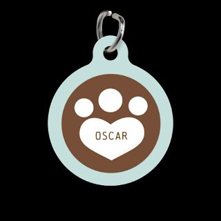 Cat Lover Gifts  Cat Lover Pet Tags  Dog Cat Paw Print Chocolate