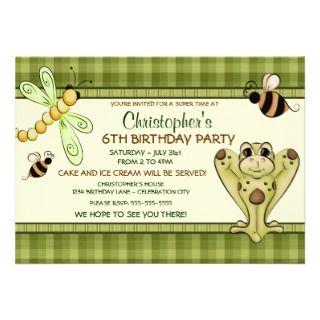 Hoppy Frog Birthday Invitation invitations by birthdaysweeties