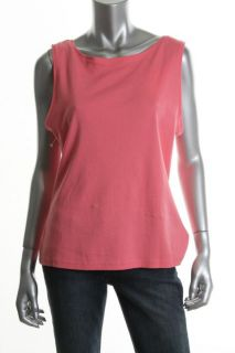 Karen Scott New Pink Sleeveless Scoop Neck Casual Tank Top Shirt L