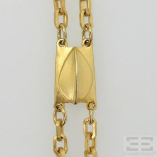 Karl Lagerfeld Gold Tone Modernes Kunst Chain Necklace