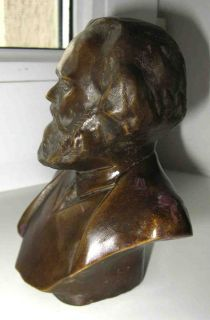 USSR Brass Statue Bust Karl Marx Soviet Russian Lenin