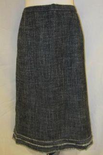 Kasper Black White Tweed Straight Knee Suit Church Career Plus Mod