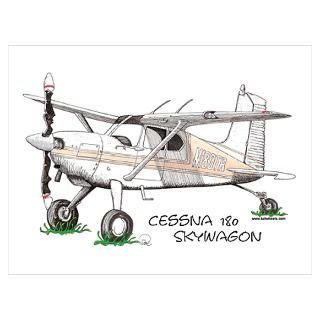 Classic vintage style airplane graphic   Cessna 150   makes great