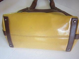 Kate Spade Gold Cori Marbella XLarge Patent Leather Tote Bag Handbag
