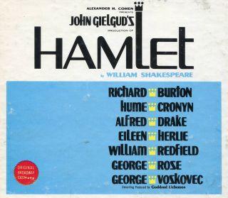 HAMLET Broadway Cast Richard Burton A. Drake COLUMBIA FOUR STEREO LP