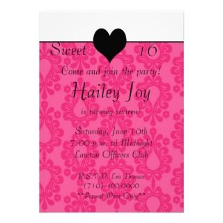card2 copy, Sweet , 16, Come and join the partyPersonalized Invite