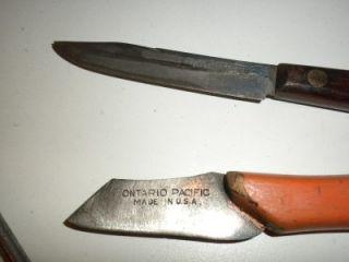 VINTAGE WOOD CURVING TOOLS NIJI SET, CURVING KNIFE KASTAR GAP WISS