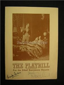 1945 Katharine Cornell The Barretts of Wimpole Street Signed Playbill