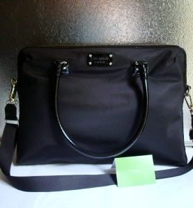 Kate Spade Calista Nylon Laptop Case Bag Black