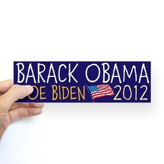 BARACK OBAMA JOE BIDEN flag 2012 Bumper Sticker by Election2012Designs