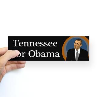Tennessee for Obama 2012 sticker  Tennessee  50 State Political
