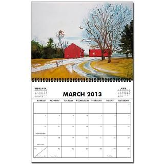 2010 Red Barn Calendar  12 pages of Red Barns by GKstudio