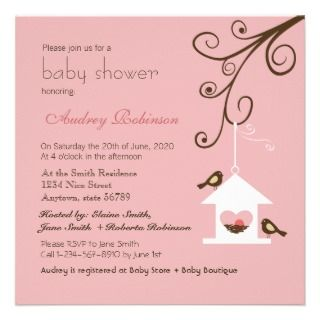 Bird House Baby Shower Personalized Invitation