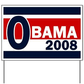 Obama 2008 Yard Sign  Barack Obama 2008 Campaign Retro