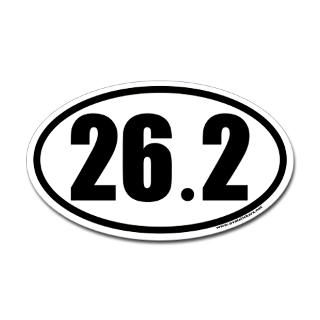 26.2 Oval Car Sticker for Marathon Enthusiasts  Sports & Hobbies