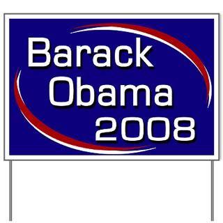 Barack Obama 2008 Yard Sign  Re Elect Barack Obama President 2012