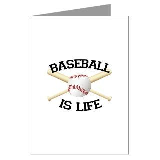 Baseball is Life T shirts. Be Greeting Cards (Pack
