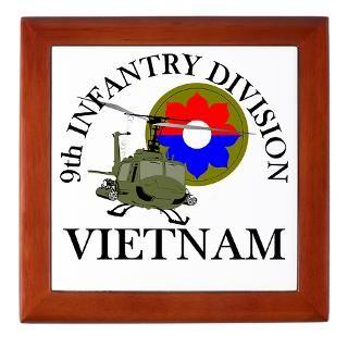 9th ID Vietnam Keepsake Box  9th ID Veteran   Vietnam  Military