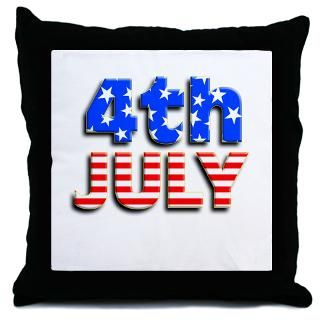 4th JULY Throw Pillow  4th of July  Scarebaby Design