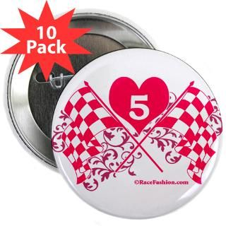 Pink Crossed Checkered with number 5  RaceFashion Auto Racing T