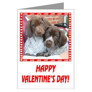 Dog Greeting Cards  Happy Valentines Greeting Cards (Pk of 10
