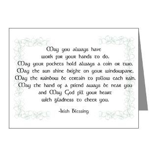 Gifts  Art Note Cards  irish blessing (sq) Note Cards (Pk of 10