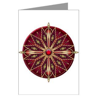Native American Rosette 13 Greeting Card