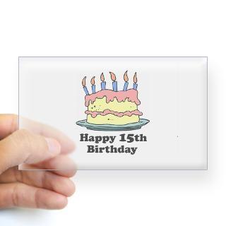 15Th Birthday Present Stickers  15Th Birthday Present Bumper Stickers